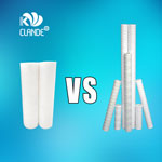 How can choose filter cartridge between melt blown and string wound?