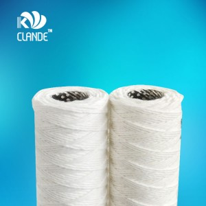 CLANDE Bleached Cotton String Wound Cartridge Filters